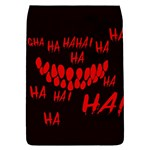 Demonic Laugh, Spooky red teeth monster in dark, Horror theme Removable Flap Cover (L)