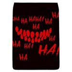 Demonic Laugh, Spooky red teeth monster in dark, Horror theme Removable Flap Cover (S)