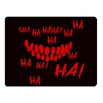 Demonic Laugh, Spooky red teeth monster in dark, Horror theme Double Sided Fleece Blanket (Small)
