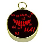 Demonic Laugh, Spooky red teeth monster in dark, Horror theme Gold Compasses