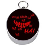 Demonic Laugh, Spooky red teeth monster in dark, Horror theme Silver Compasses