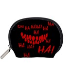 Demonic Laugh, Spooky red teeth monster in dark, Horror theme Accessory Pouch (Small)