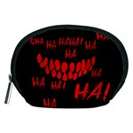 Demonic Laugh, Spooky red teeth monster in dark, Horror theme Accessory Pouch (Medium)