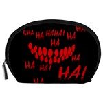Demonic Laugh, Spooky red teeth monster in dark, Horror theme Accessory Pouch (Large)