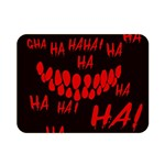 Demonic Laugh, Spooky red teeth monster in dark, Horror theme Double Sided Flano Blanket (Mini)