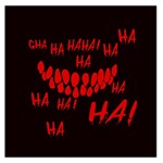 Demonic Laugh, Spooky red teeth monster in dark, Horror theme Large Satin Scarf (Square)