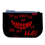 Demonic Laugh, Spooky red teeth monster in dark, Horror theme Large Coin Purse