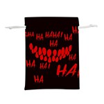 Demonic Laugh, Spooky red teeth monster in dark, Horror theme Lightweight Drawstring Pouch (L)