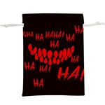 Demonic Laugh, Spooky red teeth monster in dark, Horror theme  Lightweight Drawstring Pouch (XL)
