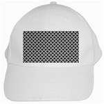 Black and white Triangles pattern, geometric White Cap