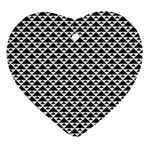 Black and white Triangles pattern, geometric Ornament (Heart)
