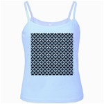 Black and white Triangles pattern, geometric Baby Blue Spaghetti Tank