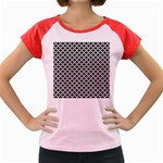 Black and white Triangles pattern, geometric Women s Cap Sleeve T-Shirt