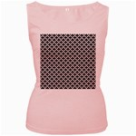 Black and white Triangles pattern, geometric Women s Pink Tank Top