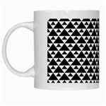Black and white Triangles pattern, geometric White Mugs