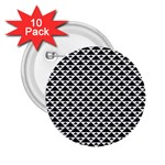 Black and white Triangles pattern, geometric 2.25  Buttons (10 pack)