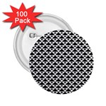 Black and white Triangles pattern, geometric 2.25  Buttons (100 pack)
