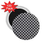 Black and white Triangles pattern, geometric 2.25  Magnets (100 pack)