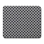 Black and white Triangles pattern, geometric Large Mousepads