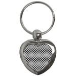 Black and white Triangles pattern, geometric Key Chain (Heart)