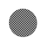 Black and white Triangles pattern, geometric Magnet 3  (Round)