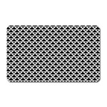 Black and white Triangles pattern, geometric Magnet (Rectangular)