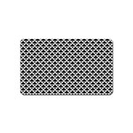 Black and white Triangles pattern, geometric Magnet (Name Card)