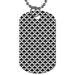 Black and white Triangles pattern, geometric Dog Tag (One Side)