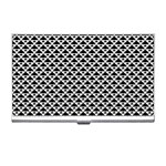 Black and white Triangles pattern, geometric Business Card Holder