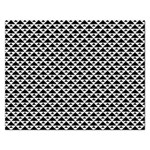 Black and white Triangles pattern, geometric Rectangular Jigsaw Puzzl