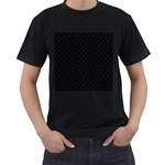 Black and white Triangles pattern, geometric Men s T-Shirt (Black) (Two Sided)