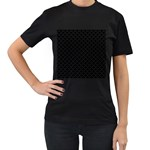Black and white Triangles pattern, geometric Women s T-Shirt (Black) (Two Sided)