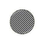 Black and white Triangles pattern, geometric Hat Clip Ball Marker (4 pack)