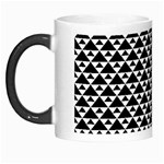 Black and white Triangles pattern, geometric Morph Mugs