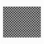 Black and white Triangles pattern, geometric Small Glasses Cloth