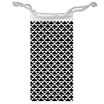 Black and white Triangles pattern, geometric Jewelry Bag