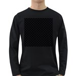 Black and white Triangles pattern, geometric Long Sleeve Dark T-Shirt