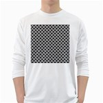 Black and white Triangles pattern, geometric Long Sleeve T-Shirt