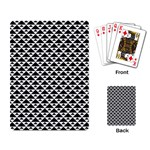 Black and white Triangles pattern, geometric Playing Cards Single Design (Rectangle)