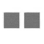 Black and white Triangles pattern, geometric Cufflinks (Square)