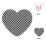 Black and white Triangles pattern, geometric Playing Cards Single Design (Heart)