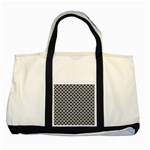 Black and white Triangles pattern, geometric Two Tone Tote Bag