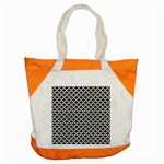 Black and white Triangles pattern, geometric Accent Tote Bag