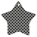 Black and white Triangles pattern, geometric Star Ornament (Two Sides)