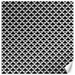 Black and white Triangles pattern, geometric Canvas 16  x 16