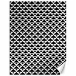 Black and white Triangles pattern, geometric Canvas 18  x 24