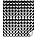 Black and white Triangles pattern, geometric Canvas 20  x 24