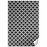 Black and white Triangles pattern, geometric Canvas 20  x 30