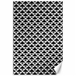 Black and white Triangles pattern, geometric Canvas 24  x 36