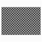 Black and white Triangles pattern, geometric Large Glasses Cloth